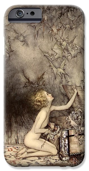 A Sudden Swarm Of Winged Creatures Brushed Past Her IPhone 6s Case by Arthur Rackham