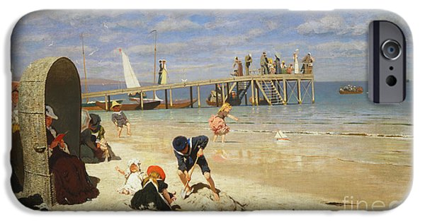 A Sunny Day At The Beach IPhone Case by Wilhelm Simmler
