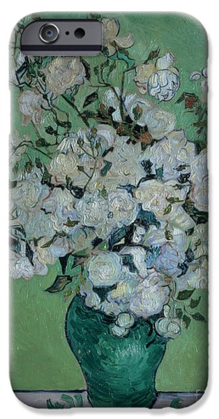 A Vase Of Roses IPhone Case by Vincent van Gogh