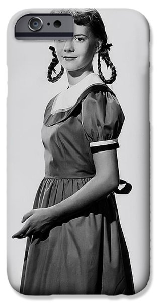 A Young Natalie Wood 1951 IPhone Case by Mountain Dreams