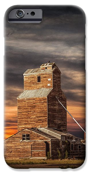 Abandoned Grain Elevator On The Prairie IPhone Case by Randall Nyhof