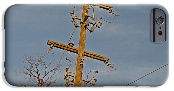 Abandoned Utility Pole At Lorton Reformatory IPhone Case by Ben Schumin