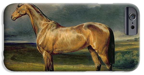 Abdul Medschid The Chestnut Arab Horse IPhone Case by Carl Constantin Steffeck