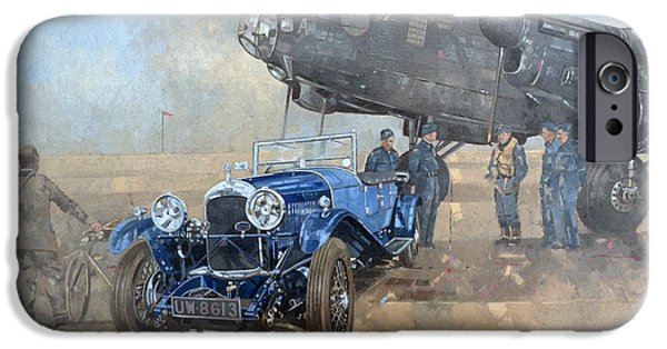 Able Mable And The Blue Lagonda  IPhone Case by Peter Miller
