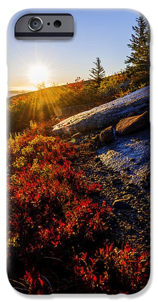 Above Bar Harbor IPhone Case by Chad Dutson