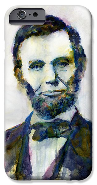 Abraham Lincoln Portrait Study 2 IPhone Case by Hailey E Herrera