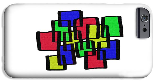 Abstract Cubicles IPhone Case by Priscilla Wolfe