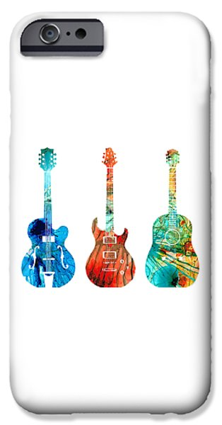 Abstract Guitars By Sharon Cummings IPhone 6s Case by Sharon Cummings