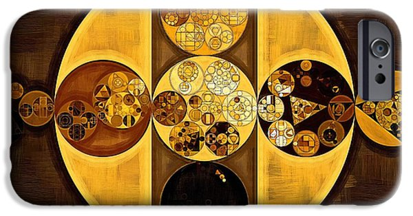 Abstract Painting - Sepia IPhone Case by Vitaliy Gladkiy