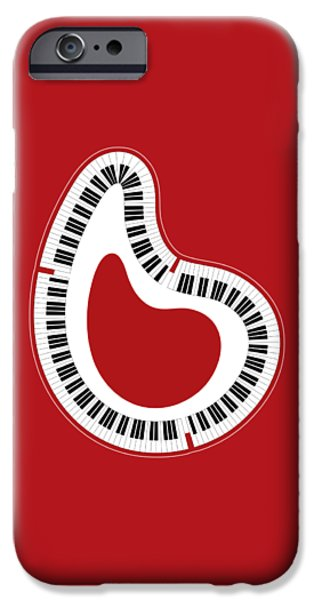 Abstract Piano IPhone Case by Frank Tschakert