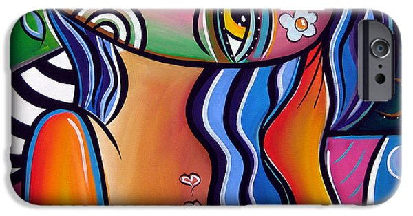 Abstract Pop Art Original Painting Shabby Chic IPhone Case by Tom Fedro - Fidostudio