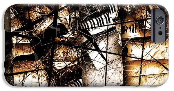 Abstracta 34 Scherzo In Orange IPhone Case by Gary Bodnar