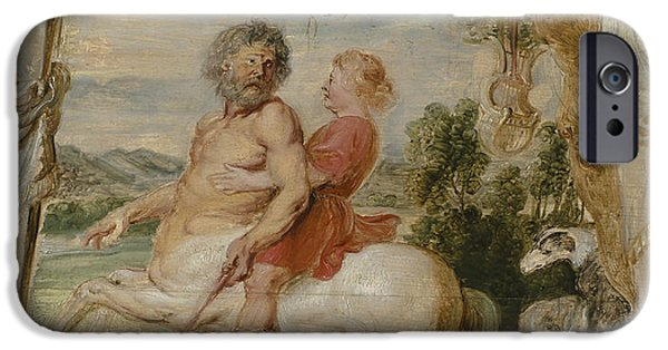 Achilles Educated By The Centaur Chiron IPhone 6s Case by Peter Paul Rubens