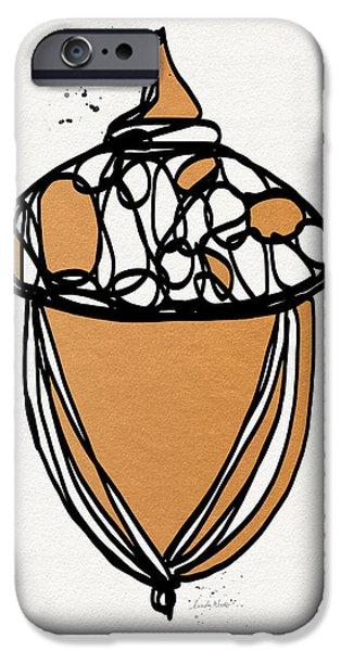 Acorn- Art By Linda Woods IPhone Case by Linda Woods