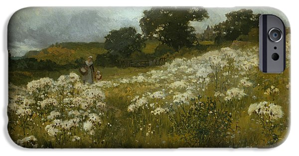 Across The Fields IPhone Case by John Mallord Bromley