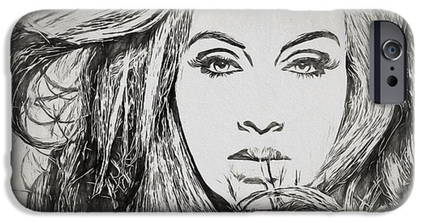 Adele Charcoal Sketch IPhone 6s Case by Dan Sproul