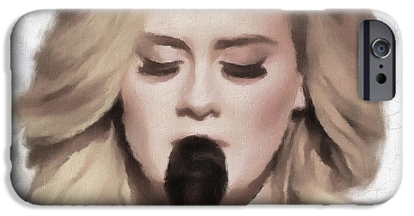 Adele Portrait Hello IPhone 6s Case by Yury Malkov