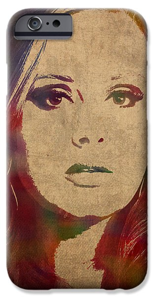Adele Watercolor Portrait IPhone 6s Case by Design Turnpike