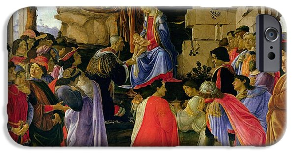 Adoration Of The Magi IPhone Case by Sandro Botticelli