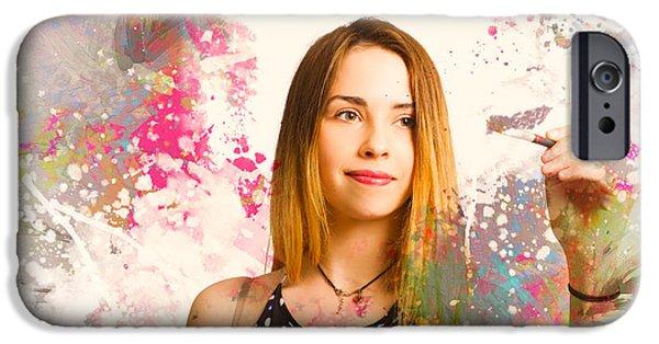 Adult Art Class Painter IPhone Case by Jorgo Photography - Wall Art Gallery