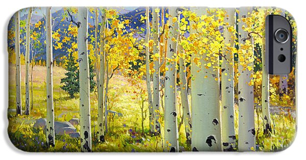 Afternoon Aspen Grove IPhone Case by Gary Kim