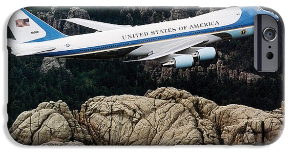 Air Force One Flying Over Mount Rushmore IPhone 6s Case by War Is Hell Store