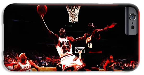Air Jordan In Flight 3b IPhone Case by Brian Reaves