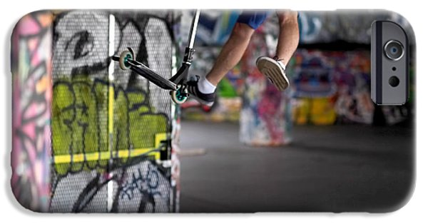 Airborne At Southbank IPhone Case by Rona Black