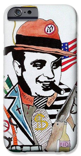 Al Capone IPhone Case by Deimante Kajataite