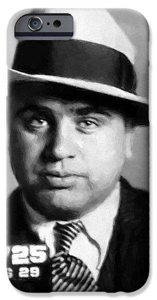 Al Capone Mugshot Painterly IPhone Case by Daniel Hagerman