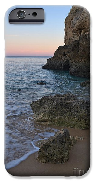 Albandeira Beach Welcoming Twilight 3 IPhone Case by Angelo DeVal