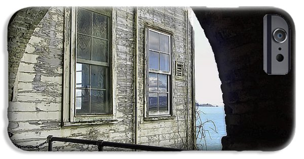 Alcatraz Guard House IPhone Case by Daniel Hagerman