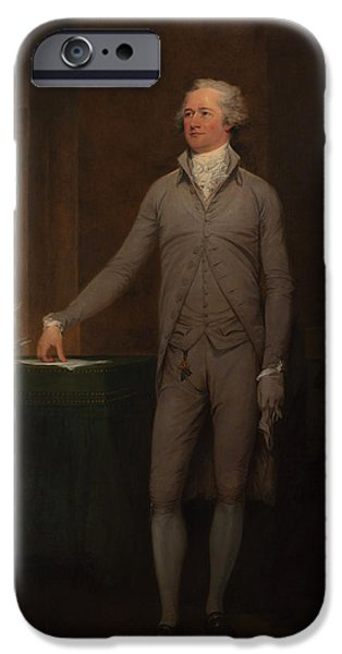 Alexander Hamilton Full-length Portrait IPhone Case by War Is Hell Store