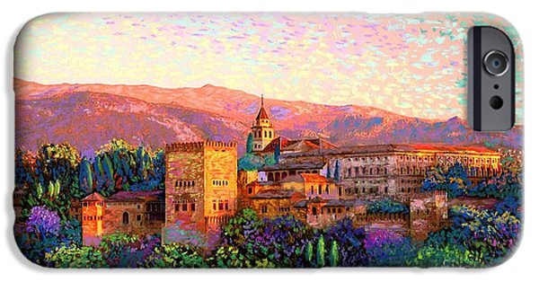 Alhambra, Grenada, Spain IPhone Case by Jane Small