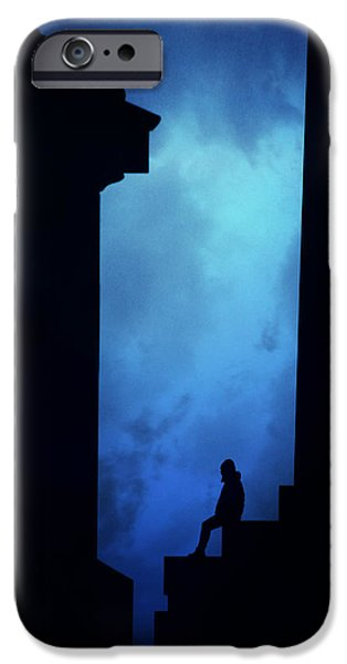 Alone In The City- Edinburgh IPhone Case by Cambion Art