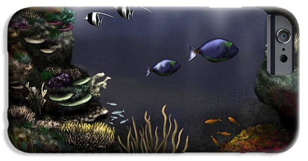 Along The Reef IPhone Case by Ron Grafe