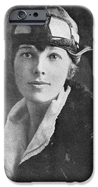 Amelia Earhart, Us Aviation Pioneer IPhone Case by Science, Industry & Business Librarynew York Public Library