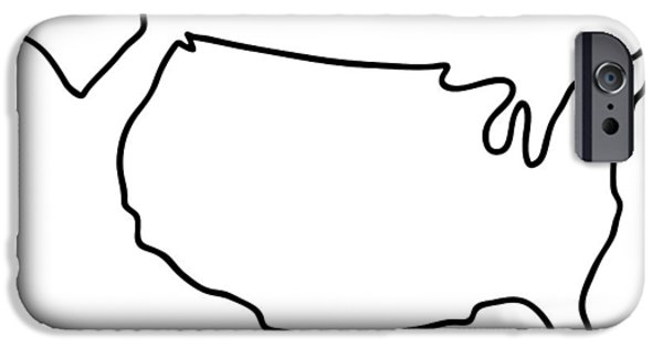 america USA map IPhone Case by Lineamentum