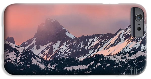 American Border Peak And Mount Larrabee At Sunset IPhone Case by Mike Reid