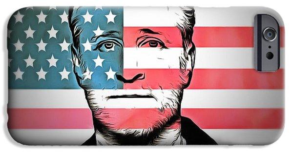 American Icon Jon Stewart IPhone Case by Dan Sproul
