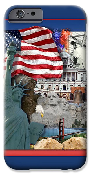 American Symbolicism IPhone Case by Gravityx9  Designs