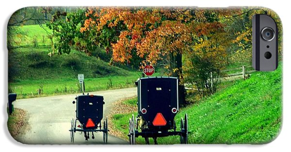 Amish Country In Autumn Ohio Holmes County IPhone Case by Charlene Cox