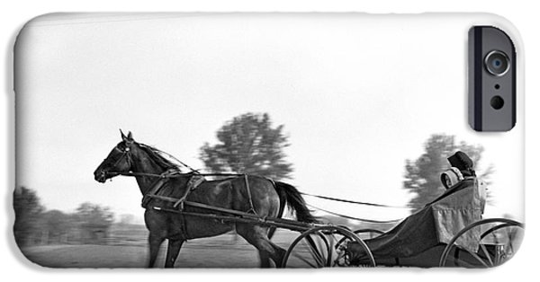Amish In Horse-drawn Buggy, C.1930s IPhone Case by H. Armstrong Roberts/ClassicStock