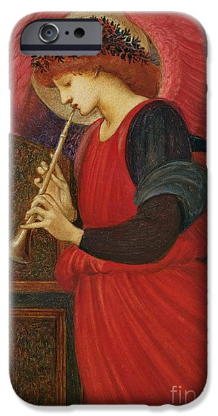 An Angel Playing A Flageolet IPhone Case by Sir Edward Burne-Jones