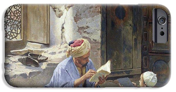 An Arab Schoolmaster IPhone Case by Ludwig Deutsch