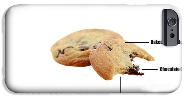 Anatomy Of A Chocolate Chip Cookie IPhone Case by Michael Ledray