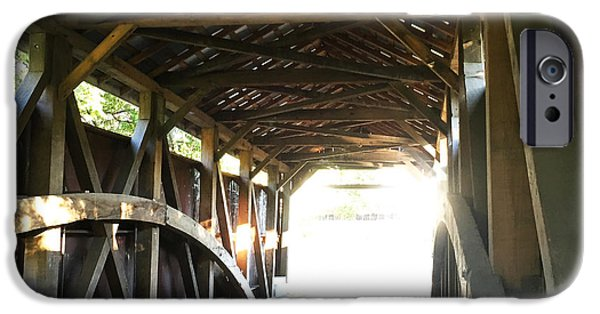 Anatomy Of A Covered Bridge 2 IPhone Case by Kristen Neill