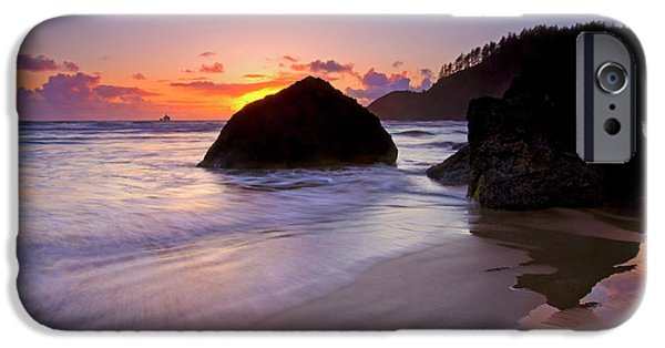 Anchoring The Beach IPhone Case by Mike  Dawson