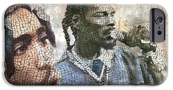 Ancient Gangsta Rap Mosaic 2 IPhone Case by Jani Heinonen