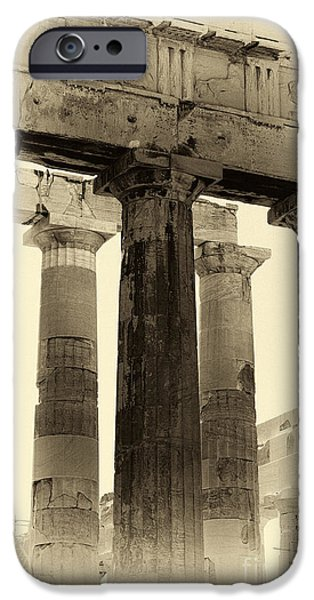 Ancient Greek Columns IPhone Case by John Rizzuto